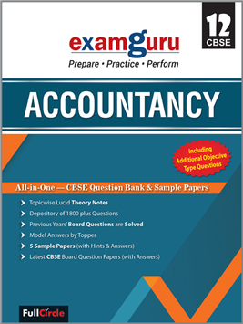 Examguru All In One CBSE Chapterwise Question Bank for Class 12 Accountancy (Mar 2019 Exam